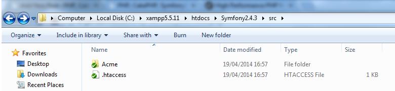 Symfony 2 src folder